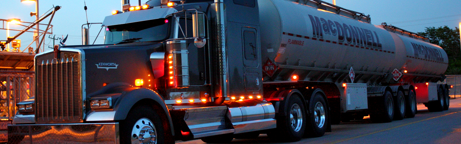 MacDonnell Truck at Night